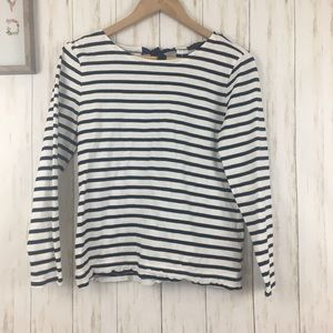 J. Crew Striped T-Shirt with Bow Embellished Back